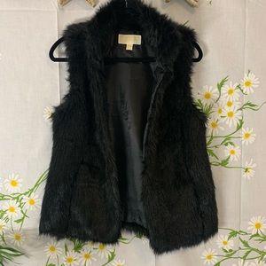 Michael kors MK fuzzy faux fur vest